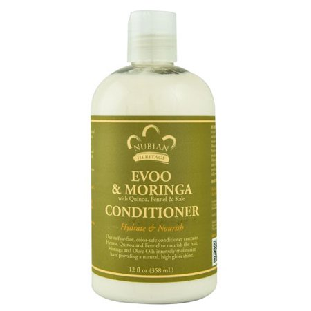 Nubian Heritage Olive - Nubian Heritage Nubian Heritage Conditioner - Repair and Extend Extra Virgin Olive Oil and Moringa - 12 Ounce