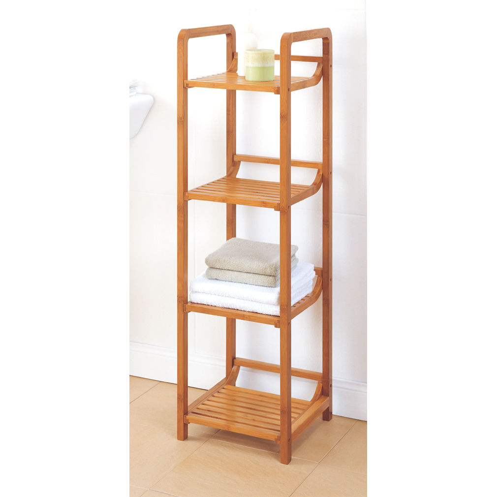 Organize It All 29954W Lohas 4 Tier Bamboo Tower