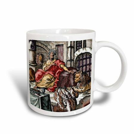 3dRose Daniel in the lions den, engraving - HI13 PRI0141 - Prisma, Ceramic Mug, 11-ounce](Daniel And The Lions Den Craft)