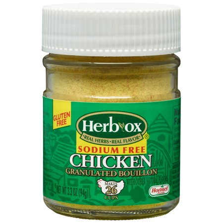 (2 Pack) Herb-Ox Sodium Free Granulated Chicken Bouillon, 3.3 Ounce