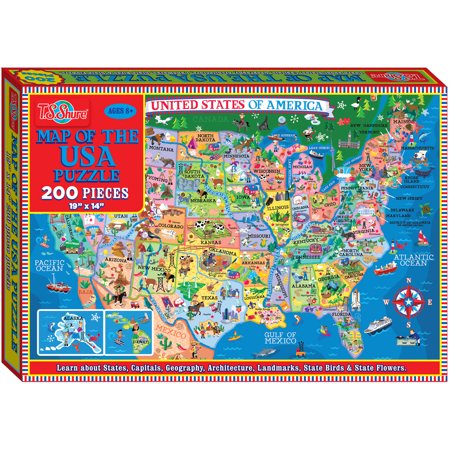 T.S. Shure Map of the U.S.A. Jigsaw Puzzle, 200 - Usa Puzzle Map