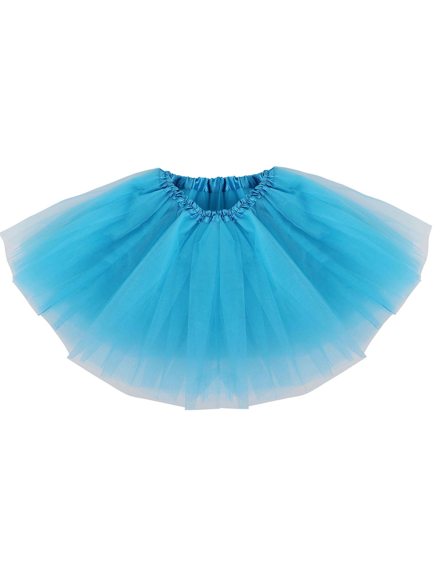 Simplicity Baby Classic Elastic 5 Layer Tulle Tutu Skirt Pettiskirt,Peacock Blue