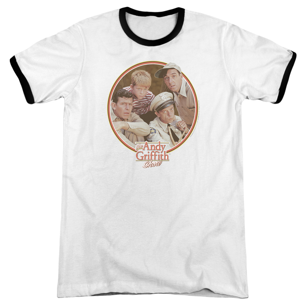 Andy Griffith Boys Club Mens Adult Heather Ringer Shirt