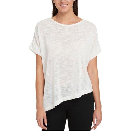 Tommy Hilfiger Womens Asymmetrical Basic T-Shirt