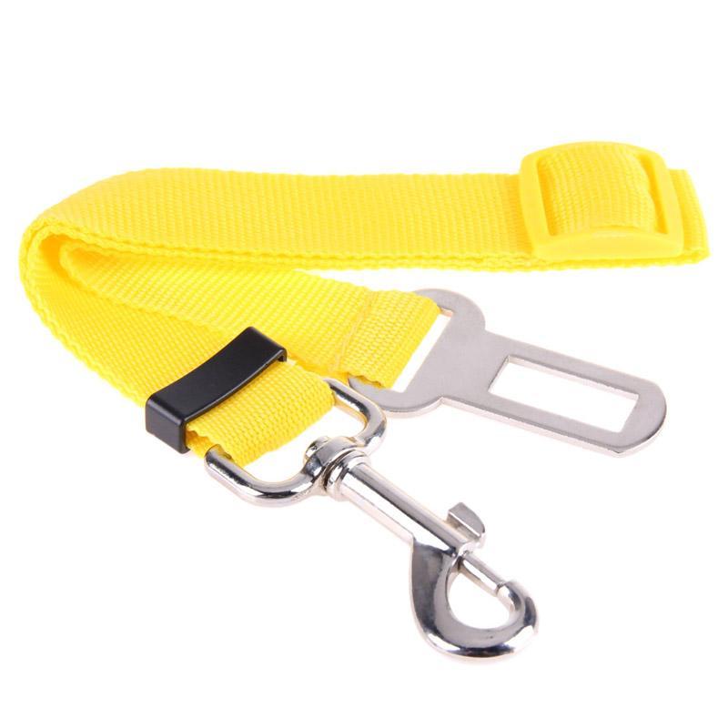 Pet Seat Belt Dog Safety Restraint Adjustable Clip Car Auto Travel Vehicle Safe Puppy Cat Seatbelt (Black)
