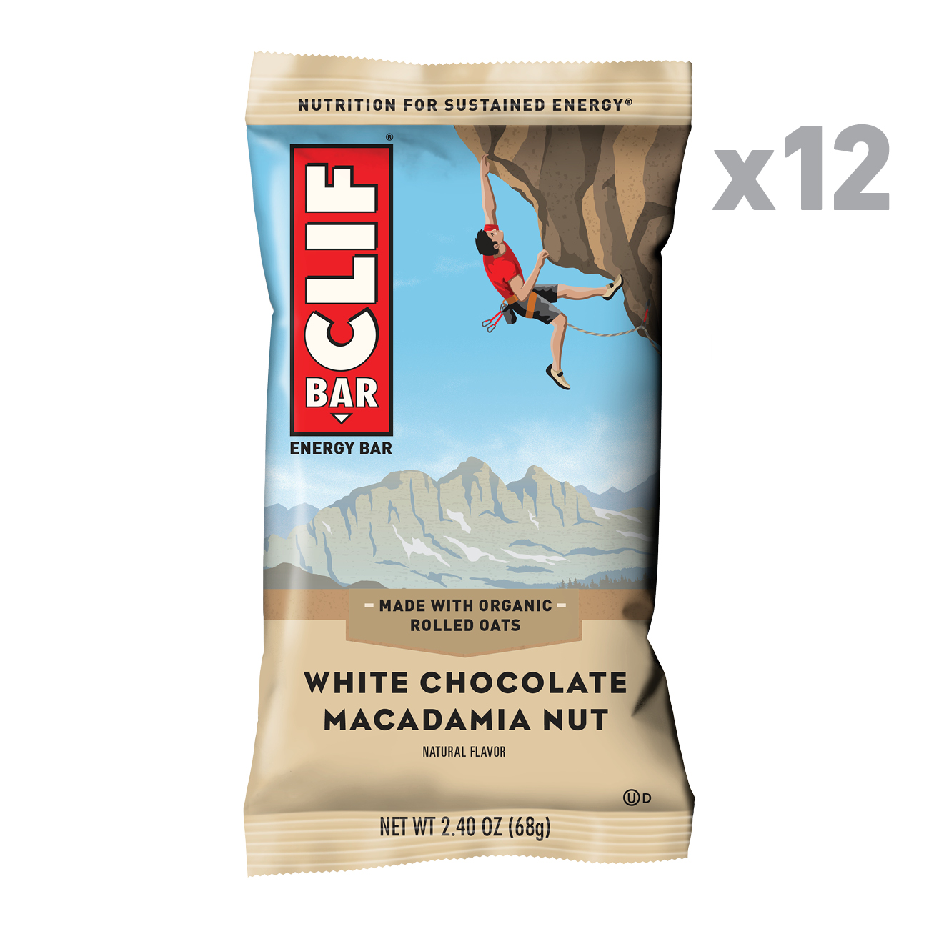 CLIF Bar® White Chocolate Macadamia Nut Energy Bars 12-2.4 oz. Bars