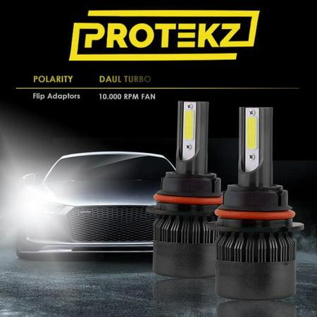 PROTEKZ Ultra Edition 1 LED Headlight Bulbs Conversion Kit H4 HB2 9003 Hi/Low Beam PRIME CREE LED 5000lm 6K Pure White