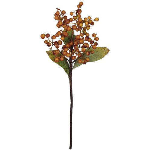 August Grove Cranberry Pick Stem (Set of 3)