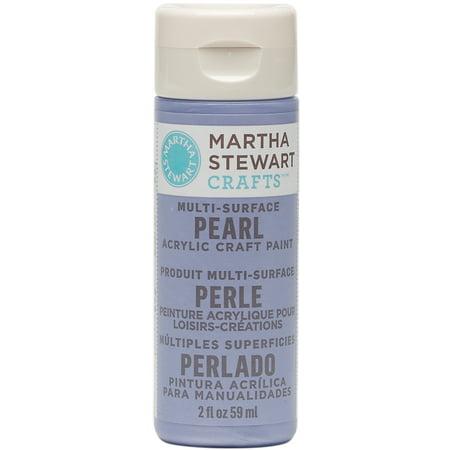 Martha stewart pearl acrylic craft paint 2 ounces twilight for Craft smart acrylic paint walmart
