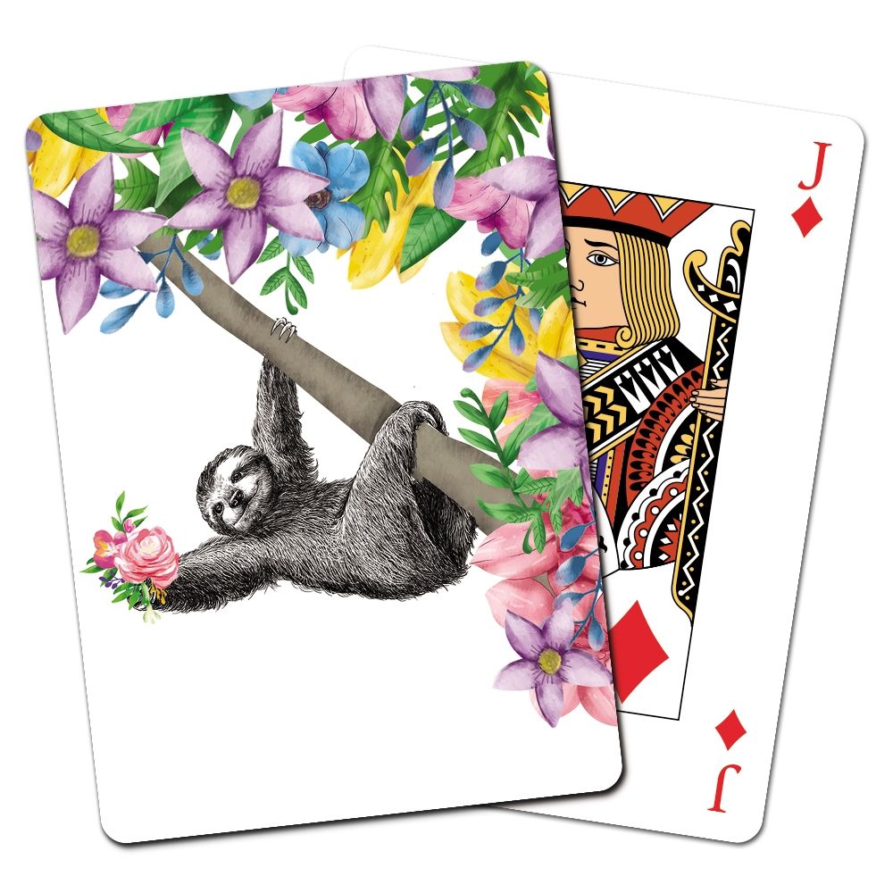 Tree-Free Greetings Boho Sloth Playing Cards -CD15471