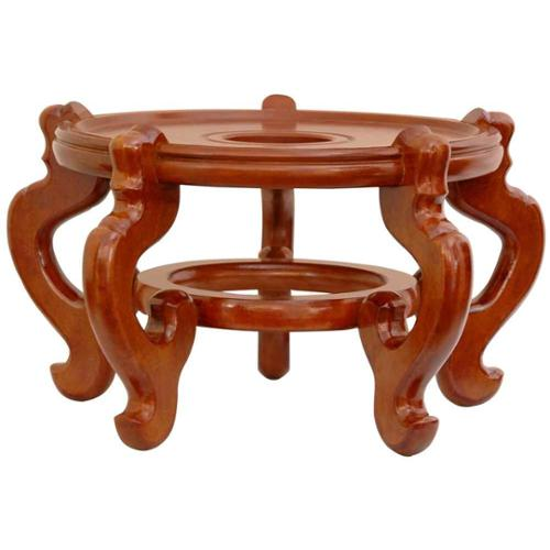 Rosewood Fishbowl Stand in Honey Finish (11.5 in. Dia.)