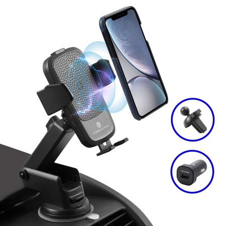 - Cobble Pro 10W Fast Qi Wireless Car Charger Mount, Quick Charging Car Dash Board Wind Sheild Phone Holder w/Suction Pad Adjustable Arm Mounting Base for Samsung Galaxy Note 9 S9+, iPhoneXS Max/XS/XR/X