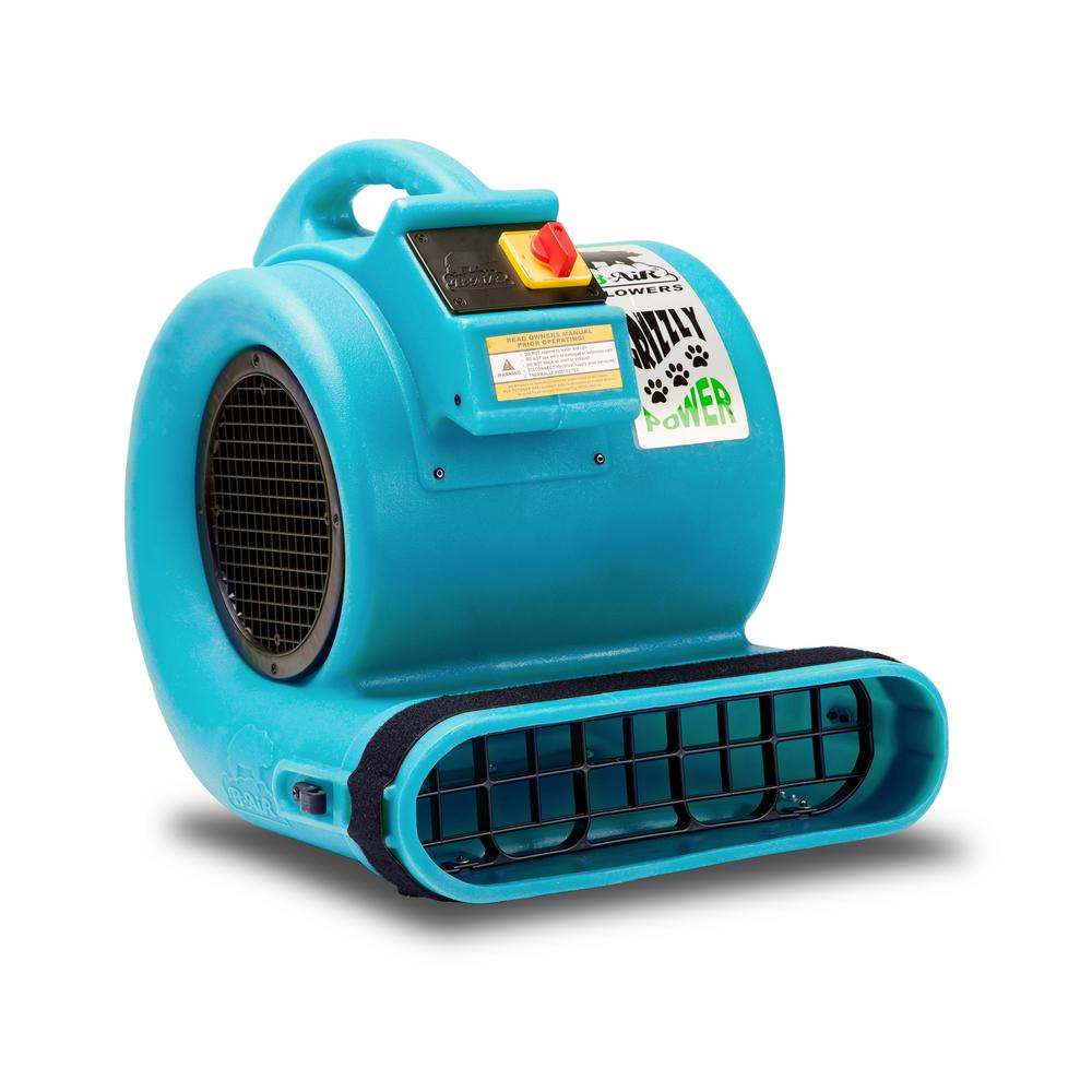 B-Air GP-1 1 HP Air Mover for Water Damage Restoration Carpet Dryer Floor Blower Fan, Turquoise