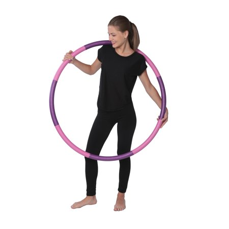 3 Pound Weighted Hula Hoop - Ideal for Aerobics Workouts, Hot Fitness & Weight Loss Exercise - Comes Apart for Easy (Hula Hoop Tricks)