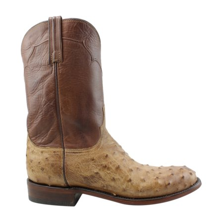 Lucchese Mens M9633.C2 Tan Burnished Cowboy, Western Boots Size 8