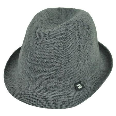 76b3a936c6431 Block Headwear Dune Fedora Medium Relax Gangster Trilby Stetson Hat Solid  Grey - Walmart.com
