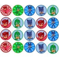 PJ Masks Hero Cat Boy Gekko Owlette Edible Cupcake Toppers
