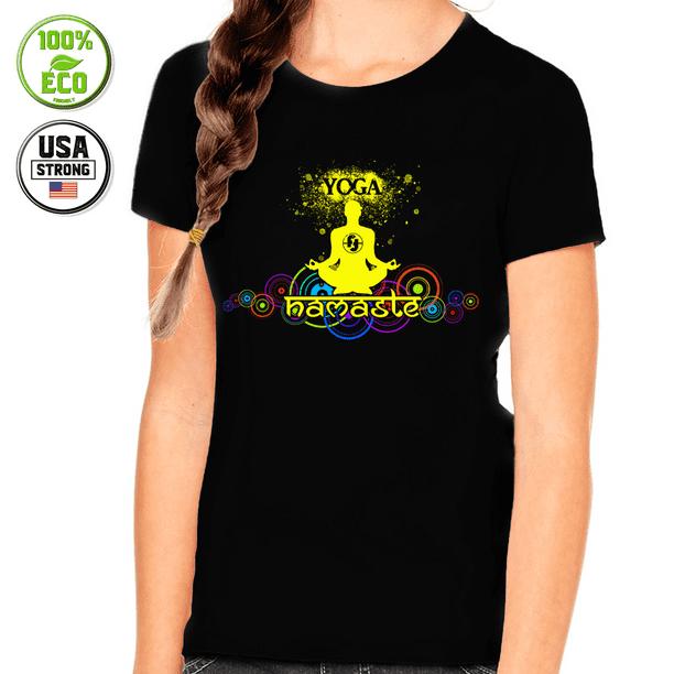 Fire Fit Designs Yoga Shirts For Girls Kids Yoga Shirt Summer Shirts For Girls Kids Summer Shirt Walmart Com Walmart Com