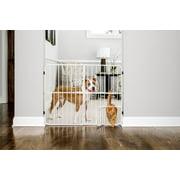 """Carlson Metal Expandable Dog Gate, White, 38""""L x 2""""W x 32""""H"""