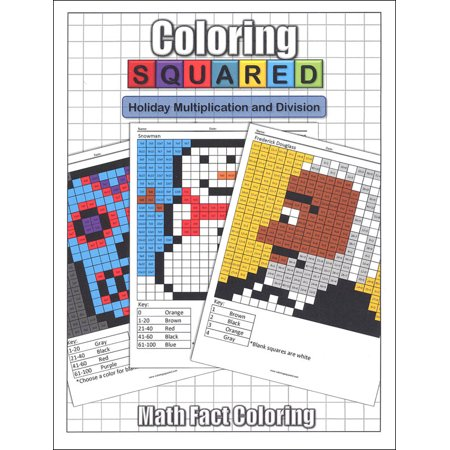 Coloring Squared Holiday Multiplication And Division Walmart Com