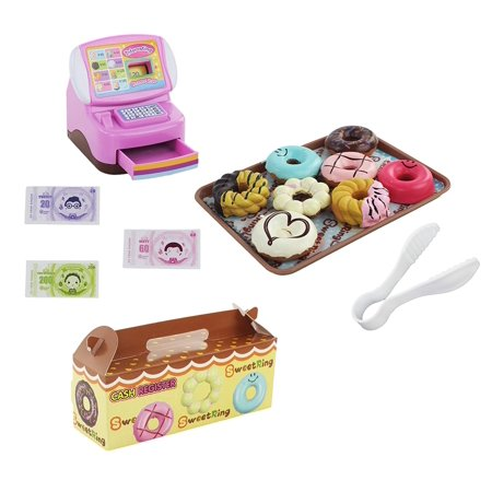 Kids Toy Set Mini Cash Registers Play food Donuts Pastry Shop