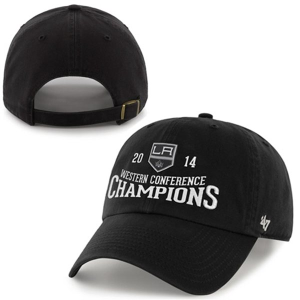 Los Angeles LA Kings 2014 Western Conference Champs 47 Brand Adjustable Hat Cap