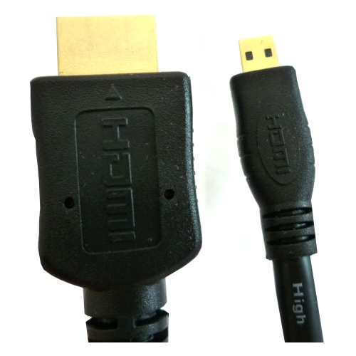 Professional Cable 6' Micro HDMI to Regular HDMI Cable