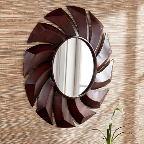 Southern Enterprises Chauncey Wall Mirror, Rust Red