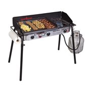 """Camp Chef Expedition 3X Stove with 18""""x24"""" Griddle - 3 Burners at 30,000 BTUs Each"""