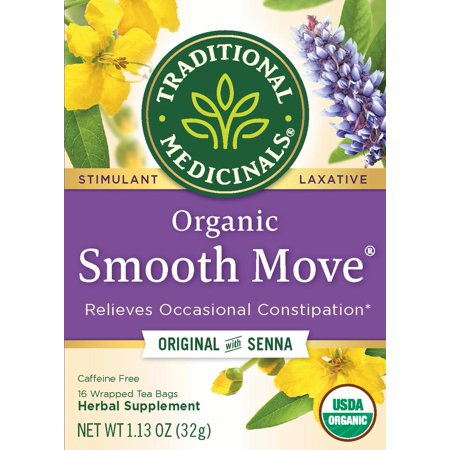 Traditional Medicinals, Organic Smooth Move, Tea Bags, 16 Count