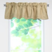 Brite Ideas Living Circa Solid Banded Valance with 25 in. Rod Pocket