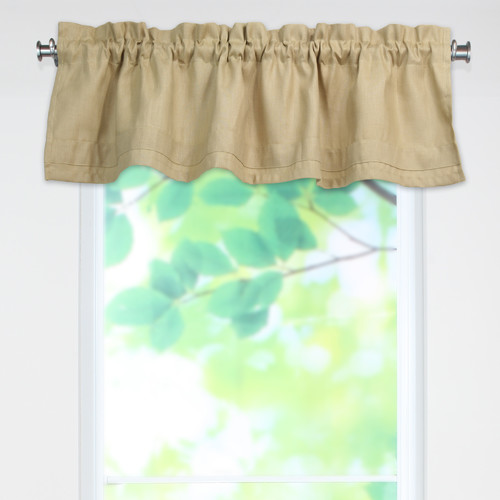 Brite Ideas Living Circa Solid Rod Pocket Tailored 52'' Curtain Valance