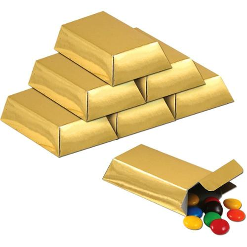 Gold Foil Favor Boxes (12 Pack) - Party Supplies