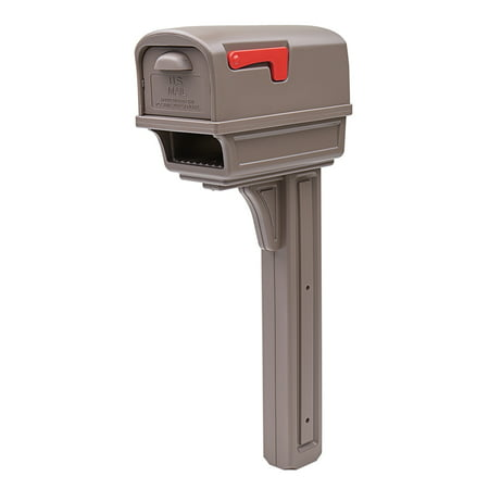 Solar Group Inc Gc1m Mocha All In One Mailbox And Post Combo