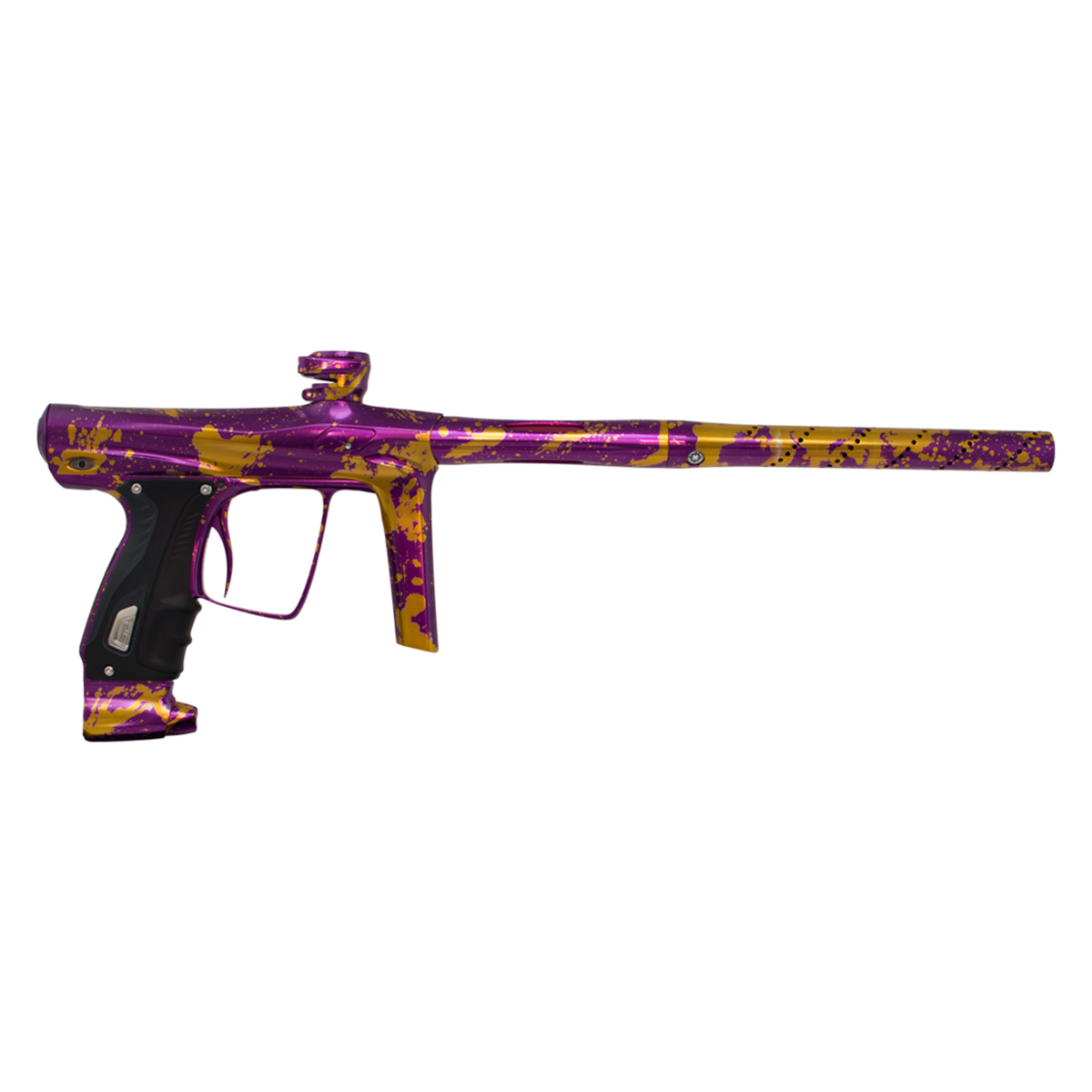SP Shocker RSX Paintball Marker Purple   Gold Splash by Shocker Paintball