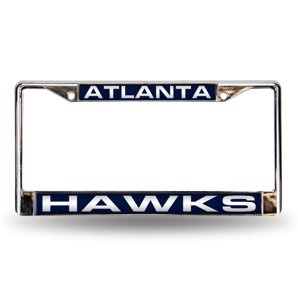 Atlanta Hawks NBA Chrome Metal Laser Cut License Plate Frame