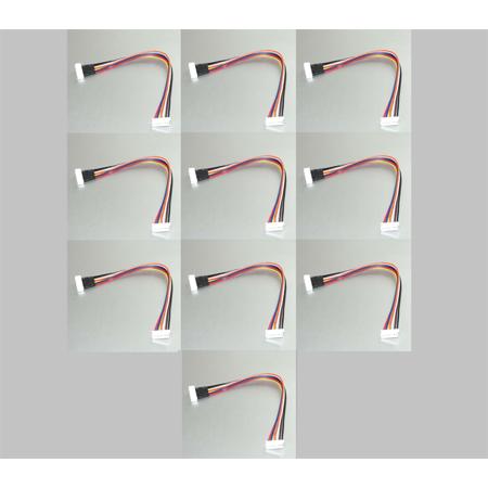HobbyFlip JST-XH 6S Battery LiPo Extension Lead Cable 20cm (10pcs) for RC