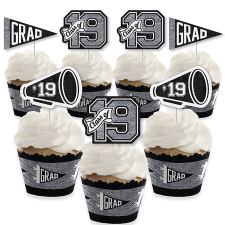 All Star Grad - Cupcake Decoration - 2019 Graduation Party Cupcake Wrappers and Treat Picks Kit - Set of 24](All Star Cupcakes)