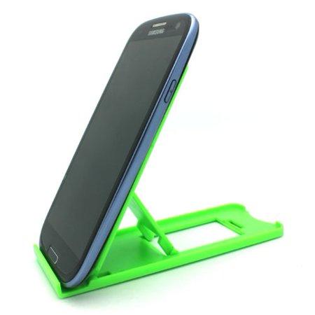 Green Compact Portable Fold-up Stand Desktop Mini Holder Compatible With iPhone 7 Plus 6S 6 Plus X XS Max XR 8 PLUS 5S, iPad Mini 2 4 Air 2 Pro 10.5 12.9 9.7, 3, Ipod Nano 7th Gen