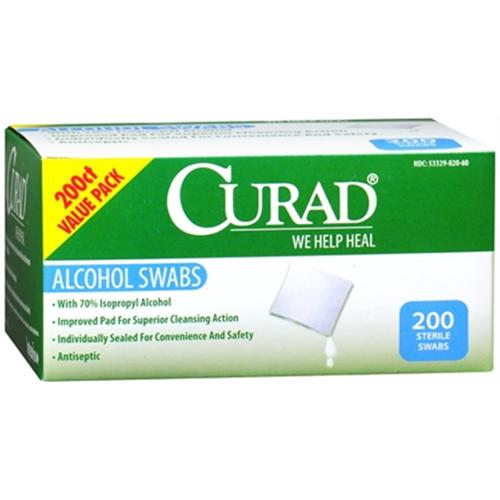 Curad Alcohol Prep Pads 200 Each (Pack of 4)