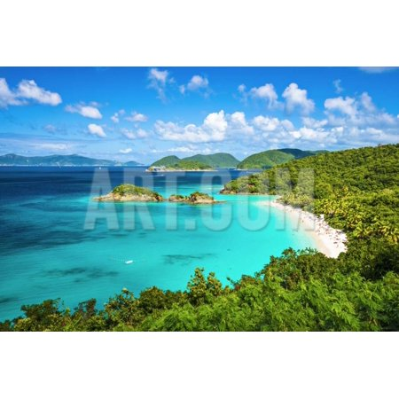 Trunk Bay, St John, United States Virgin Islands. Print Wall Art By SeanPavonePhoto