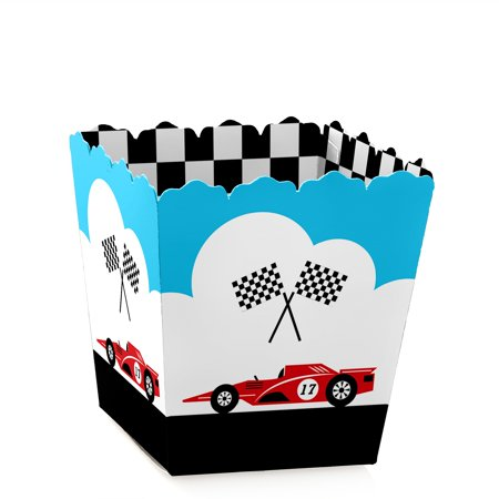 Let's Go Racing - Racecar - Party Mini Favor Boxes - Racing or Birthday Party Treat Candy Boxes - Set of 12 - Race Car Birthday