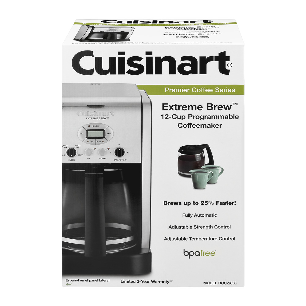 Cuisinart Premier Coffee Series Extreme Brew 12-Cup Programmable Coffeemaker, 1.0 CT