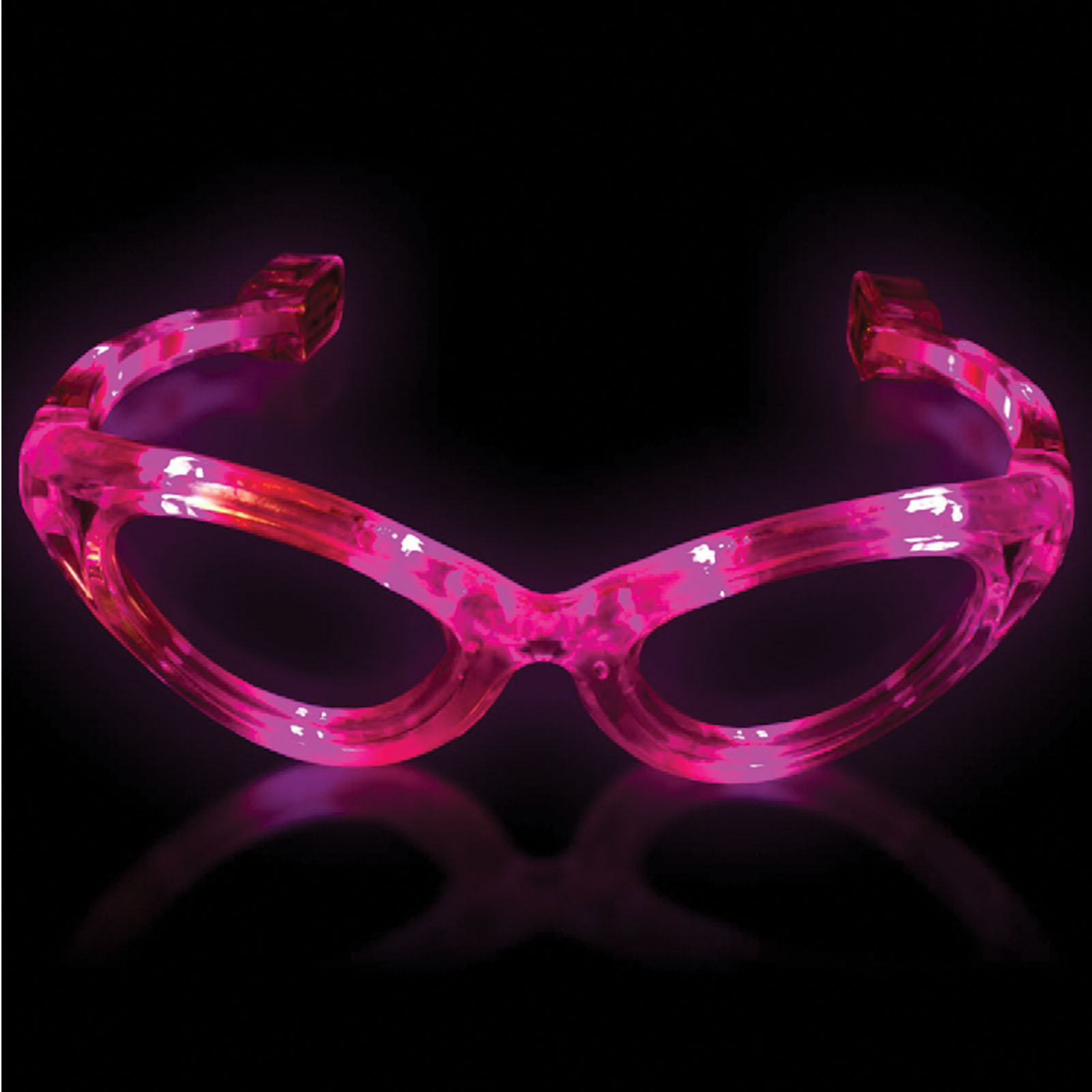 Supreme Light Up Blinking Sunglasses LED Glasses, Pink, One Size