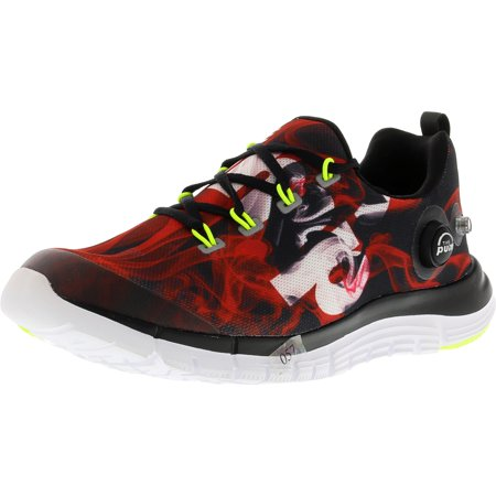 1e5bfc5fe7bd3 Reebok Men s Z Pump Fusion Flame Black   Red White Yellow Ankle-High Fabric  Running ...