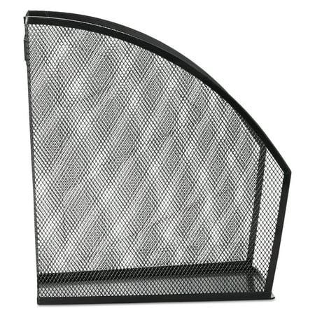 Rolodex Standard Rolled Mesh Steel Magazine File, 5 1/2 x 10 3/8 x 11 4/5, Black