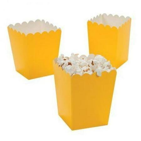 Mini Popcorn Boxes - Yellow - Teacher Resources & Birthday Supplies (Discount Teacher Supplies)