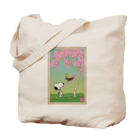 Woodstock In The Cherry Blossoms - Natural Canvas Tote Bag, Cloth Shopping Bag - Cloth Shopping Bags