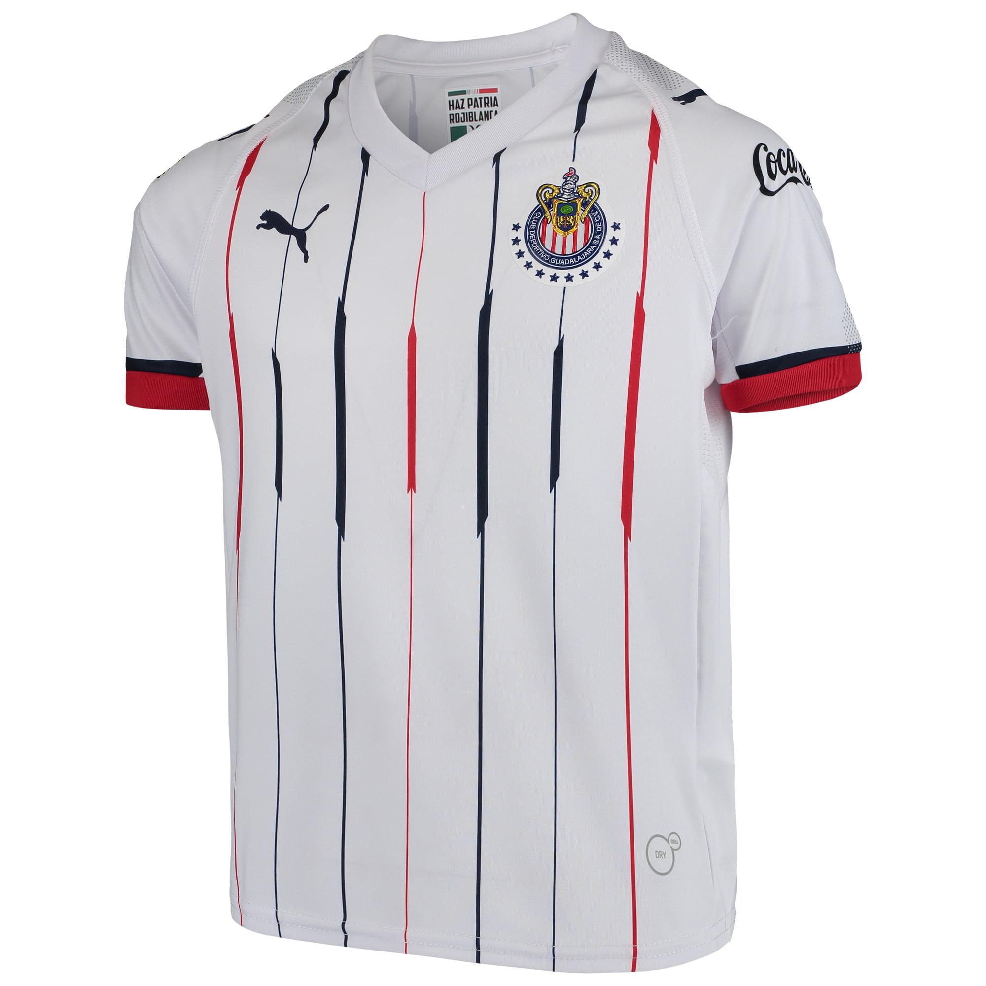 9e854d09172 Chivas Puma Youth 2018 19 Away Replica Jersey - White Red - Walmart.com