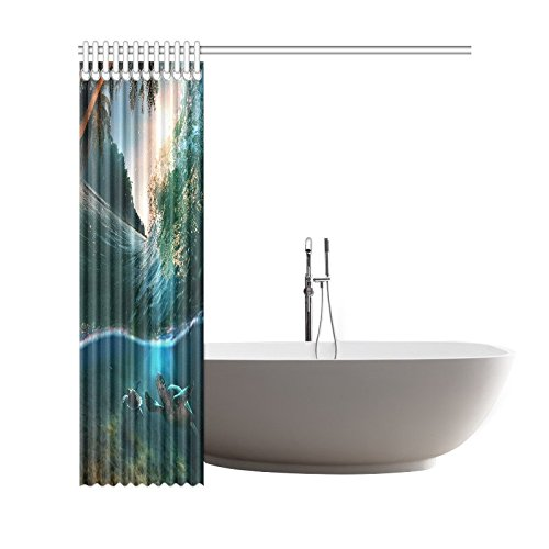 GCKG Tropical Paradise Shower Curtain, Ocean Underwater World Polyester Fabric Shower Curtain Bathroom Sets 66x72 Inches - image 1 of 3